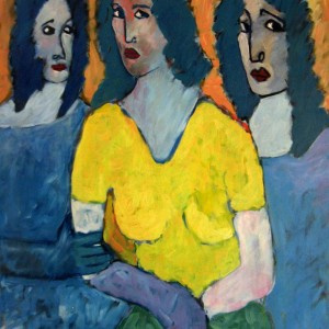 Trilogy I , Oil on canvas, 90 x 120 cm.