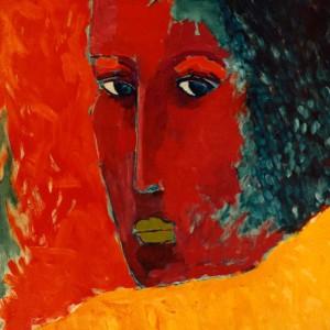 Woman of silence, Oil on canvas, 95 x 95 cm.