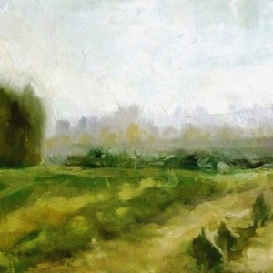 6_Bney Atarot, 2012. Oil on wood 40X21