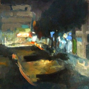 8_Downtown, 2011, oil on canvas, 30X30