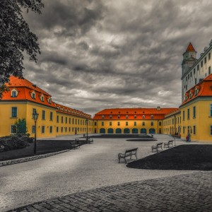 Bratislava-Castle-selective-colour