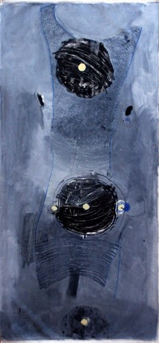 06-Dress-,Series-2012,oil-on-primed-unstretched-canvas-220X90-cm-,-nis-16000