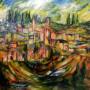 ציור-מספר-12-מידות-80-90-ירושלים-בירוק-מחיר-2200$